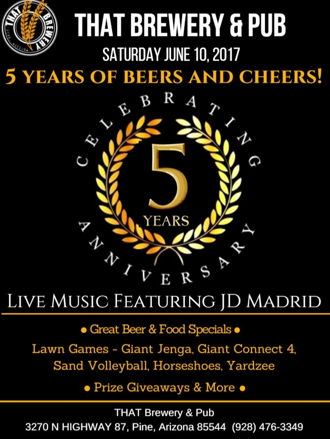 5 Years of Beers & Cheers! Anniversary Celebration at THAT ...