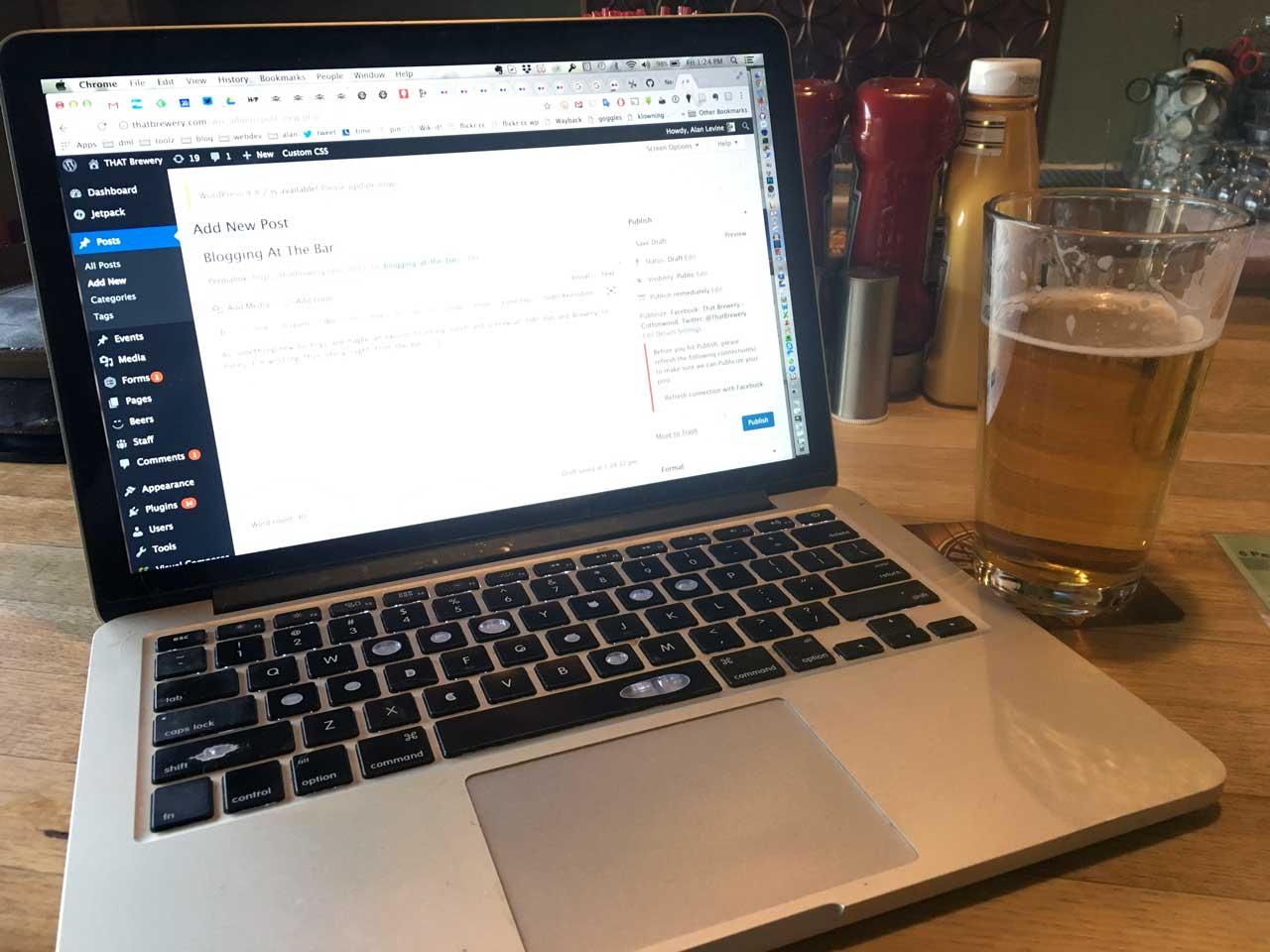 Blogging At The Bar